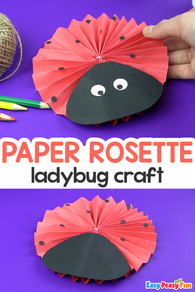 Paper Rosette Ladybug Craft for Kids