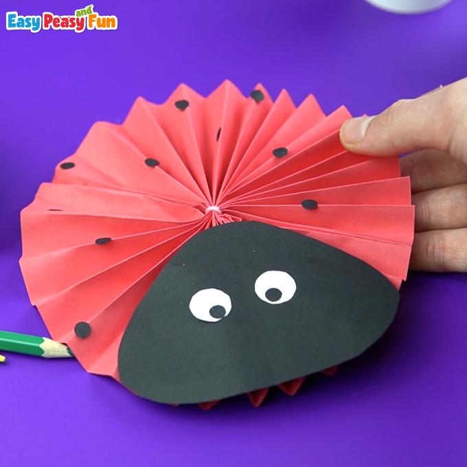 Paper Rosette Ladybug Craft