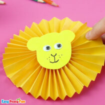 Paper Rosette Lion Craft