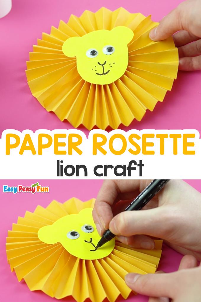 Paper Rosette Lion Craft for Kids