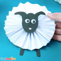 Paper Rosette Sheep Craft