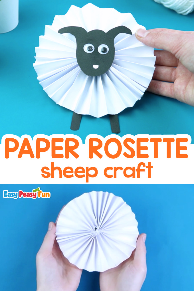 Paper Rosette Sheep Craft for Kids