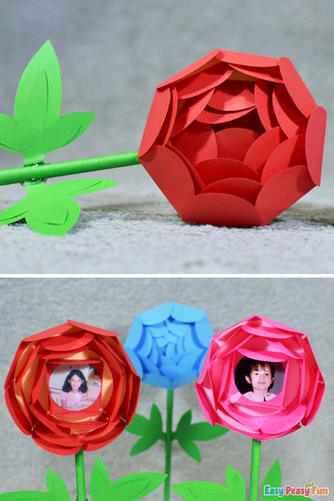 DIY Mothers Day Paper Flower Spring Craft