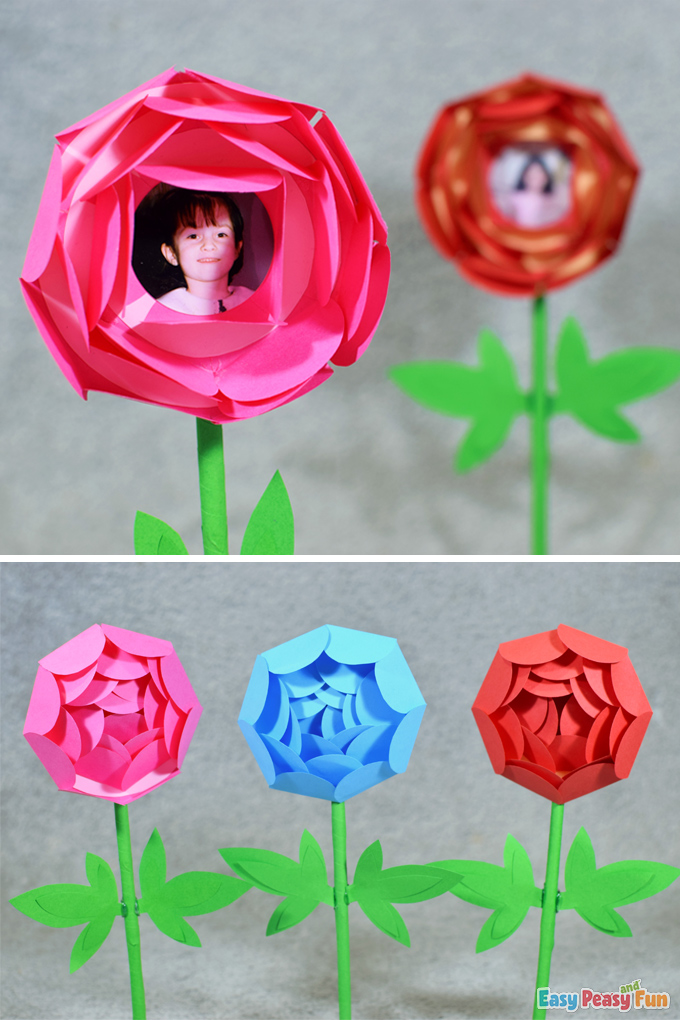 Mothers Day Paper Flower Spring Craft