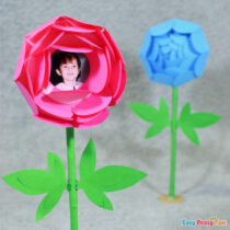 Mothers Day Paper Flower – Paper Peony Craft