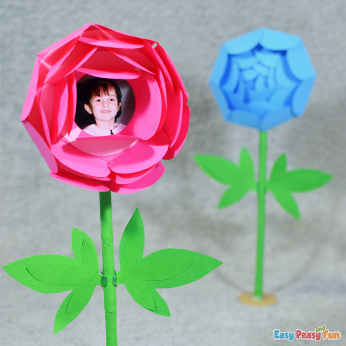 Mothers Day Paper Flower Surprise