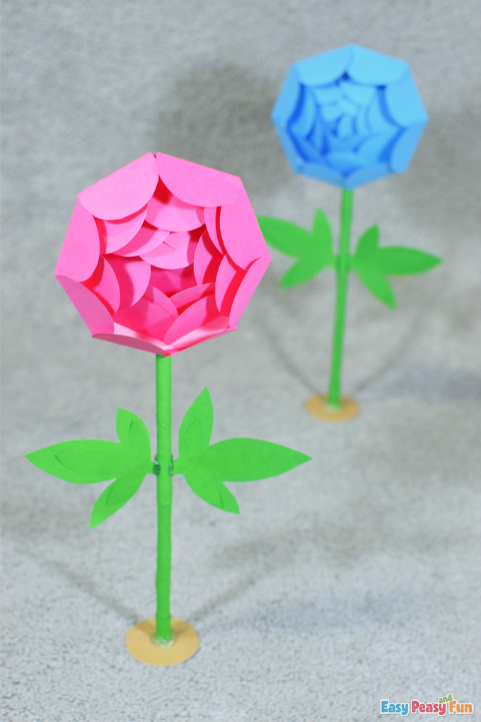 Mothers Day Paper Flowers