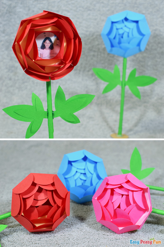 Paper Mothers Day Flower Craft
