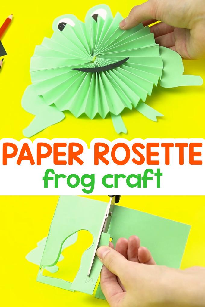 Paper Rosette Frog Craft