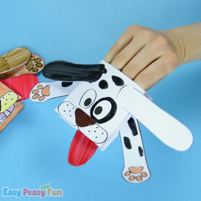 Printable Dog Puppet for Kids