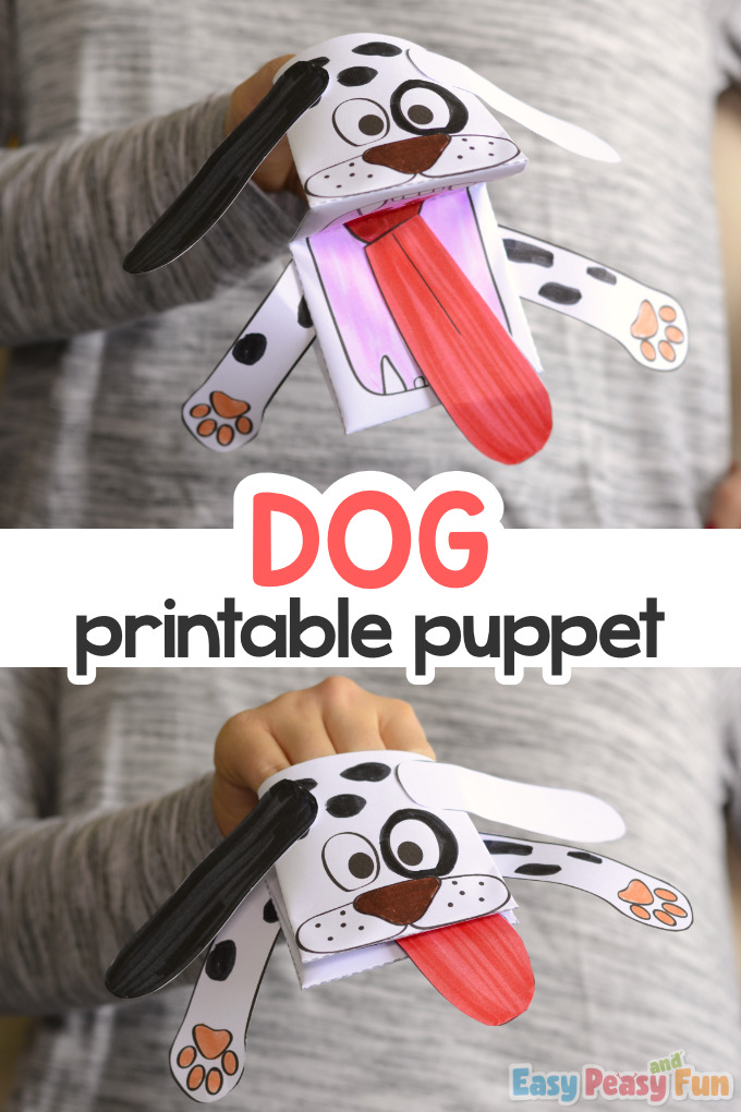 Printable Dog Puppet
