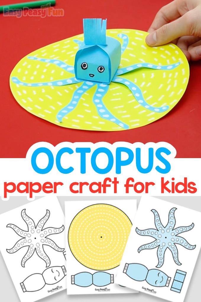 3D Paper Octopus Craft for Kids