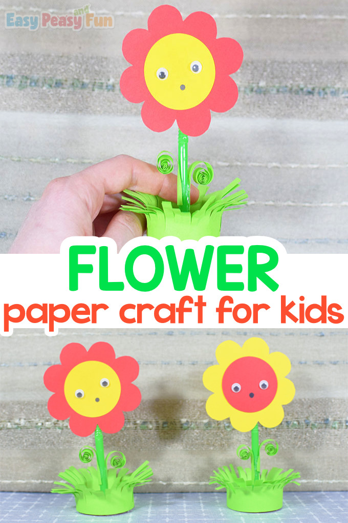 Paper Flower in a Pot Craft