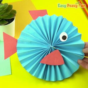 Paper Rosette Fish Craft Idea