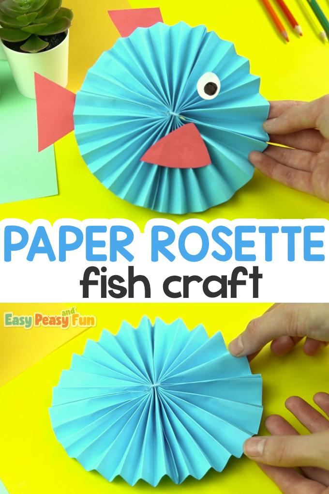 Paper Rosette Fish Craft