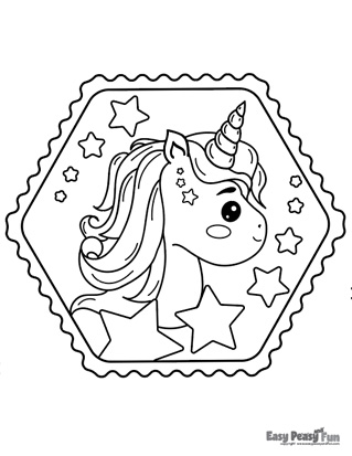 Baby Unicorn Coloring Page