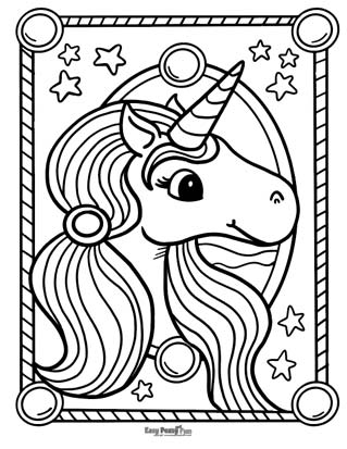 Unicorn Coloring Pages 50 Printable Sheets Easy Peasy And Fun