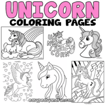 Unicorn Coloring Pages  – 50 Printable Sheets
