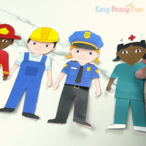 Community Workers Dress Up Dolls Templates