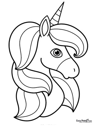 Cute Unicorn Coloring Sheet