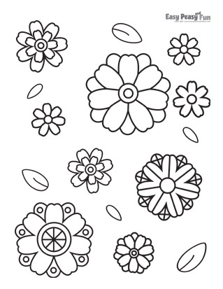 Flower Blooms Coloring Page