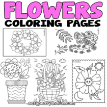 Flower Coloring Pages – 30 Printable Sheets