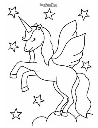 Glorious Unicorn Coloring Sheet