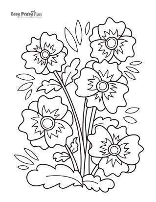 Growing Flowers Coloring Page