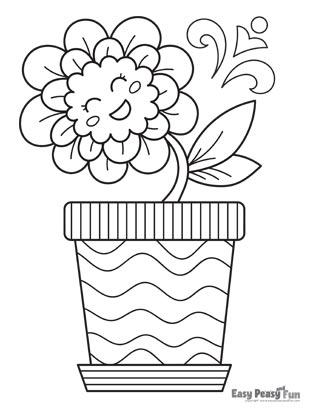 Happy Flower in a Pot