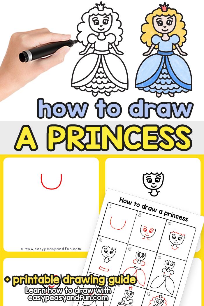 How to Draw a Princess Step by Step Tutorial