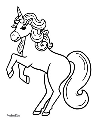 Magical Unicorn Coloring Page