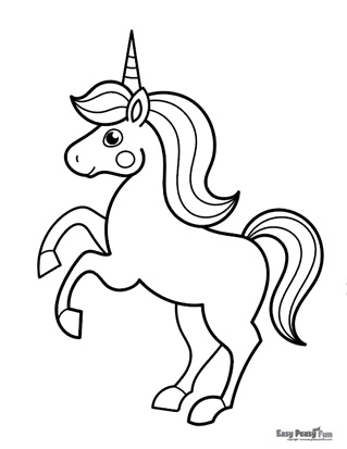Majestic Unicorn Coloring Page
