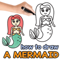 How to Draw a Mermaid – Step by Step Drawing Tutorial