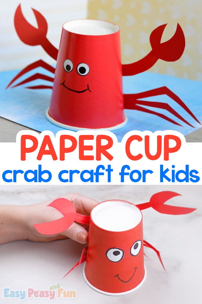 Paper Cup Crab Craft Idea