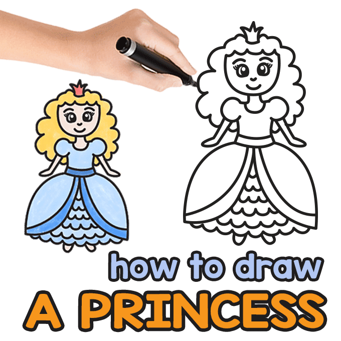 Princess Directed Drawing Guide