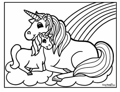 Unicorn Coloring Pages - 50 Printable Sheets - Easy Peasy And Fun