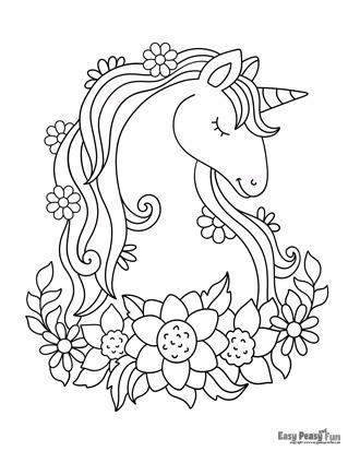 Unicorn among Flowers