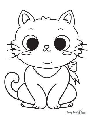 Baby Cat Coloring Page