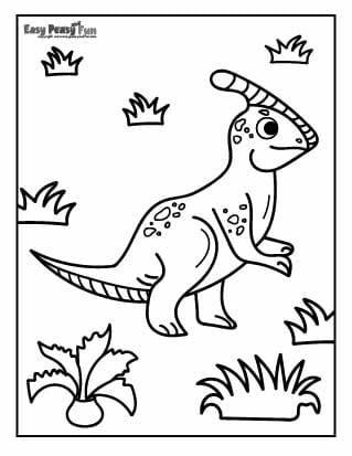 Dino in Grass