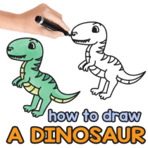 How to Draw a Dinosaur – Step by Step Drawing Tutorial