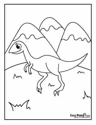 Dinosaur and Mountains