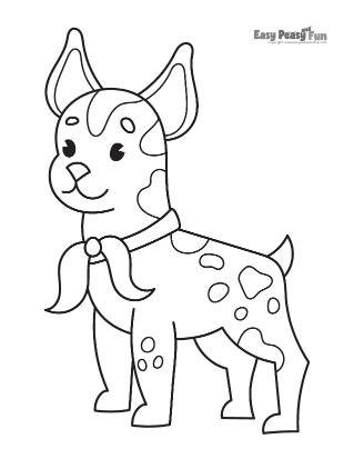 French Bulldog Coloring Sheet