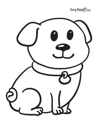 Small Dog Coloring Sheet