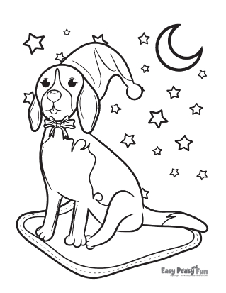 Dog under the Starry Sky