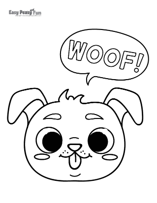 Woof Coloring Page