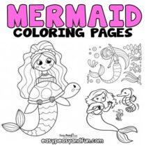 Mermaid Coloring Pages – 30 Printable Sheets