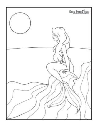 Mermaid on a Sea Shore
