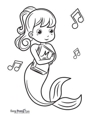 Mermaid with a Book