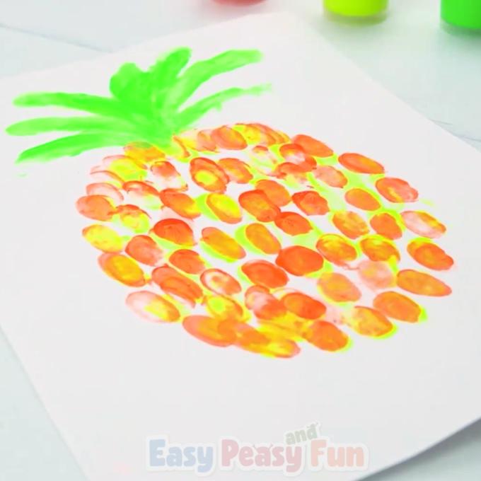 Pinaple Fingerprint Art