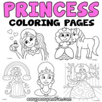 Princess Coloring Pages – 30 Printables